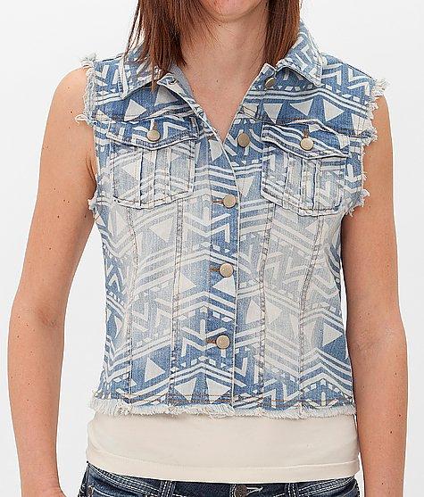 Tinseltown Southwestern Denim Vest - Women's Vests | Buckle