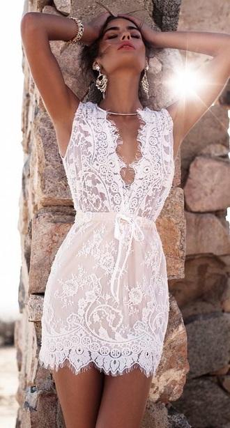 dress white lace