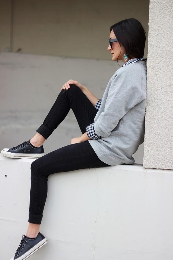 sweater shirt pants jewels