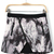 Stylish Marble Print Mini Skirt [DLN0057] - PersunMall.com