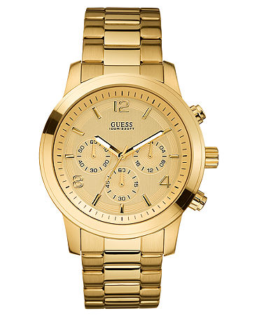 GUESS Watch, Men's Chronograph Gold-Tone Stainless Steel 45mm U15061G2 - Watches - Jewelry & Watches - Macy's
