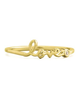 SHY by Sydney Evan Bezel Diamond Love Ring, Yellow Gold