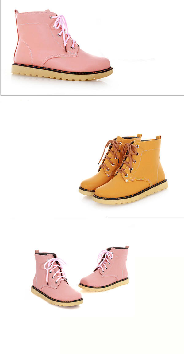 Lace-Up Short Boots - 77Queen | YESSTYLE