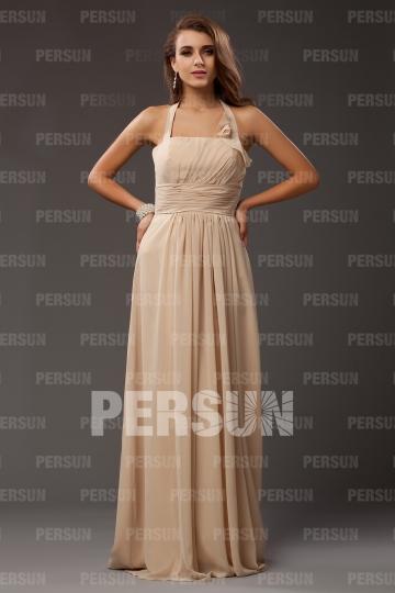 Halter Yellow tone Floor Length Empire Ruching Bridesmaid dress [PPCG2459]- US$ 127.99 - PersunMall.com