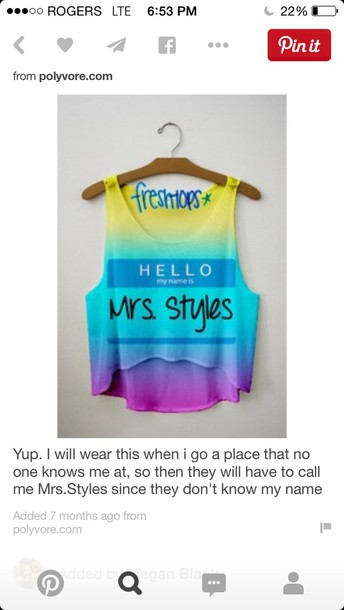 shirt one direction tees crop tops tank top