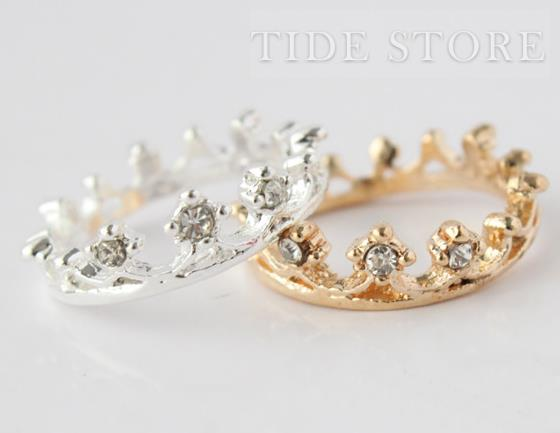 New Arrival Shining Alloy Lady's Ring with Rhinestone: tidestore.com