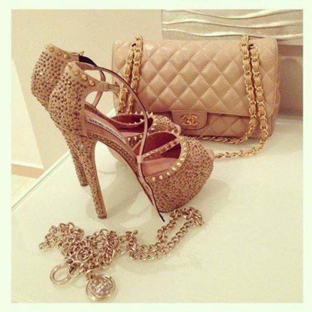 shoes occasion shoes beige shoes beige heels spikes and studs spiked shoes spikes special occasion heels