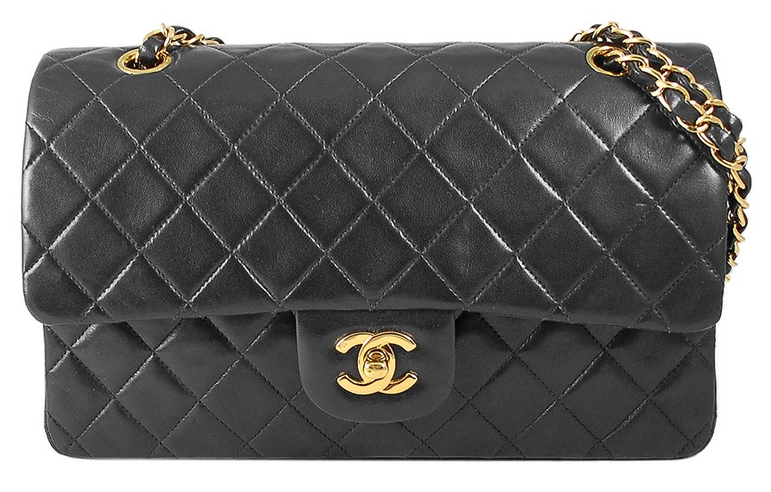 Chanel Quilted Lambskin Classic Medium 25cm Double Flap Bag | Portero Luxury
