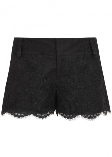 Black lace shorts  - Editorial