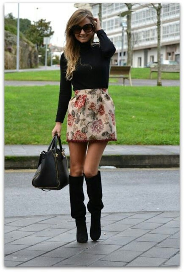 blouse skirt shoes