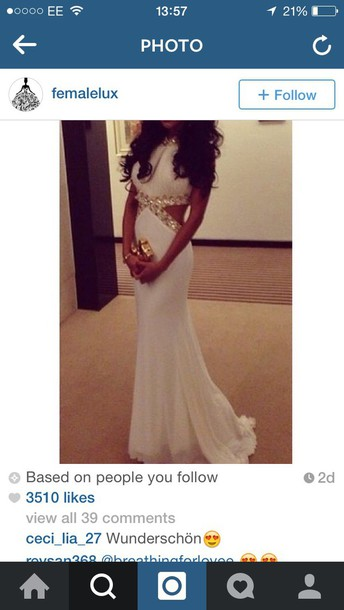 dress white dress prom dress glitter dress pretty long dress slim dress
