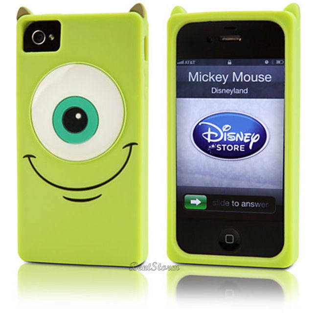 New Disney Store EXC Monsters Inc Mike University iPhone 4 4S Phone Case Cover | eBay