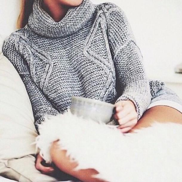 sweater grey sweater woollen jumper jumper