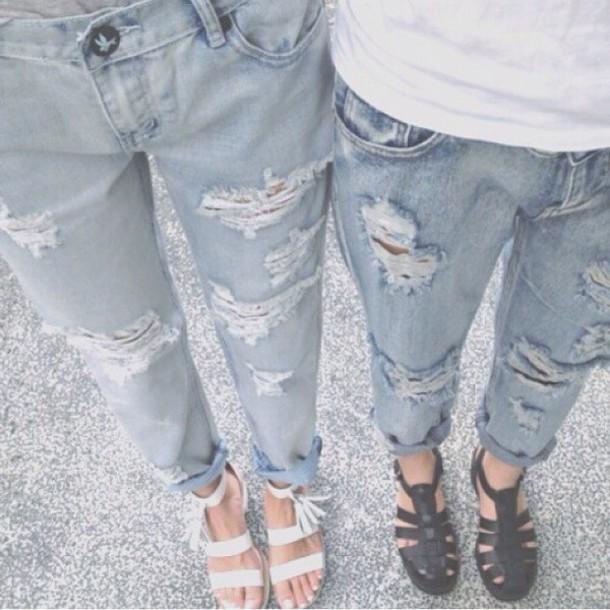 jeans ripped jeans low cut jeans boyfriend jeans