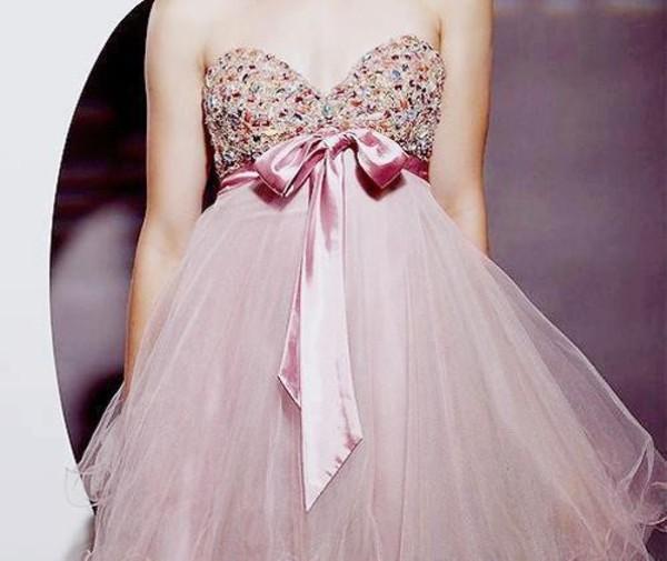 dress prom pink bow ribbon glitter we heart prom dress sequin dress
