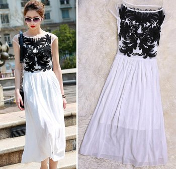 Aliexpress.com : Buy 2014 Autumn New Women's Fashion Round Neck Sleeve Lace Dress 2 Color With Belt Sexy Lace Stitching Hollow Dress from Reliable lace shoulder dress suppliers on Shenzhen Gache Trading Limited