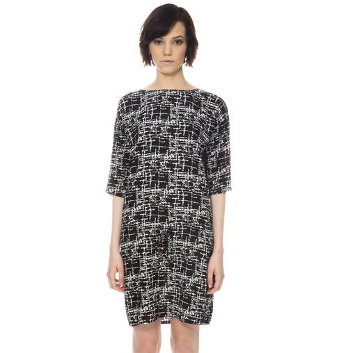 Shades of Grey - Lindsey Shift Dress-Black Matrix
