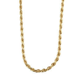 Sterling Essentials 14K Gold over Silver 2mm Diamond-cut Rope Chain (16-30 inch) | Overstock.com Shopping - The Best Deals on Gold Over Silver Necklaces