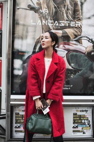 park and cube blogger coat sweater jewels bag pants