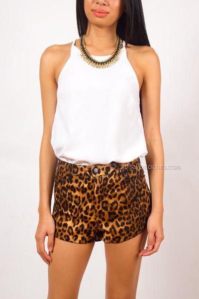 Wild Love Animal Print Shorts | Honey Peaches