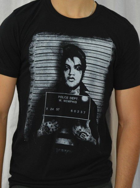 t-shirt graphic tee elvis