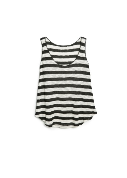 striped open-knit top