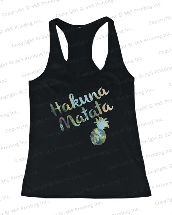 hakuna matata top hakuna matata shirts hakuna matata tank tops hakuna matata pineapple print pineapple tank tops pineapple shirt summer tank tops beach tank tops beachwear cute tank tops
