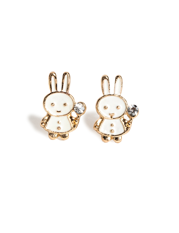 bunny earrings mini bunny rabbit stud earrings 6638
