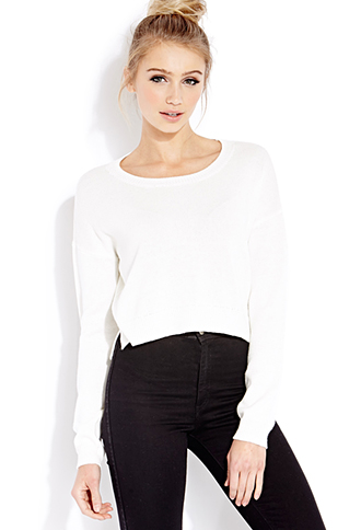 Lazy Day Cropped Sweater | FOREVER21 - 2000127104