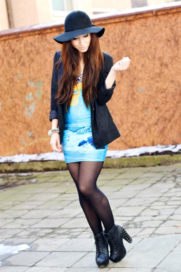 flirting with fashion jacket dress shoes hat jewels sunglasses