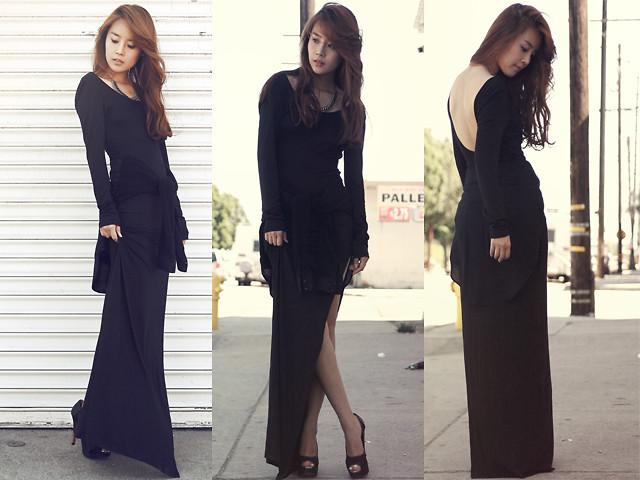 JULLIANNE YOON - BLACK MAXI DRESS | LOOKBOOK