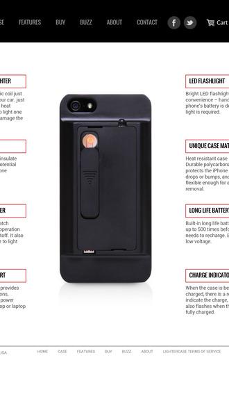 phone cover lighter