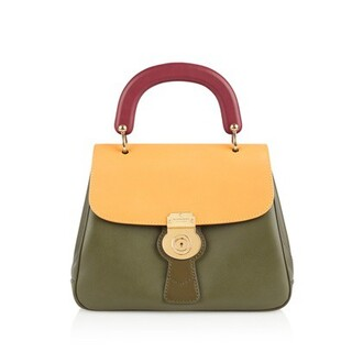 bag leather green