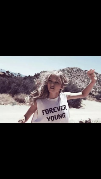 tank top debardeur forever young crop top