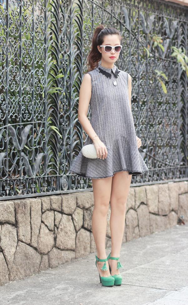 mellow mayo sunglasses t-shirt dress jewels bag shoes
