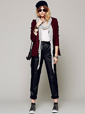 To Be Adored   Marnie Leather Pant at Free People Clothing Boutique