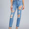In distress washed jeans blue - gojane.com