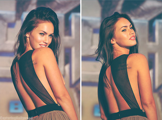 black and brown dress megan fox dress