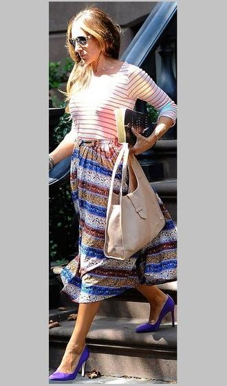 shoes bag high heels sarah jessica parker