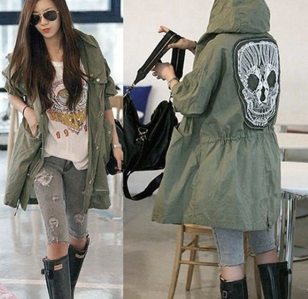 coat grunge goth skeleton tumblr