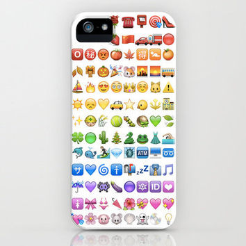 Emoji icons by colors iPhone Case by Gal Raz   Society6 on Wanelo