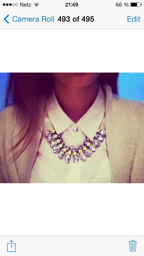 jewels yellow necklace rhinestones glitter neon yellow
