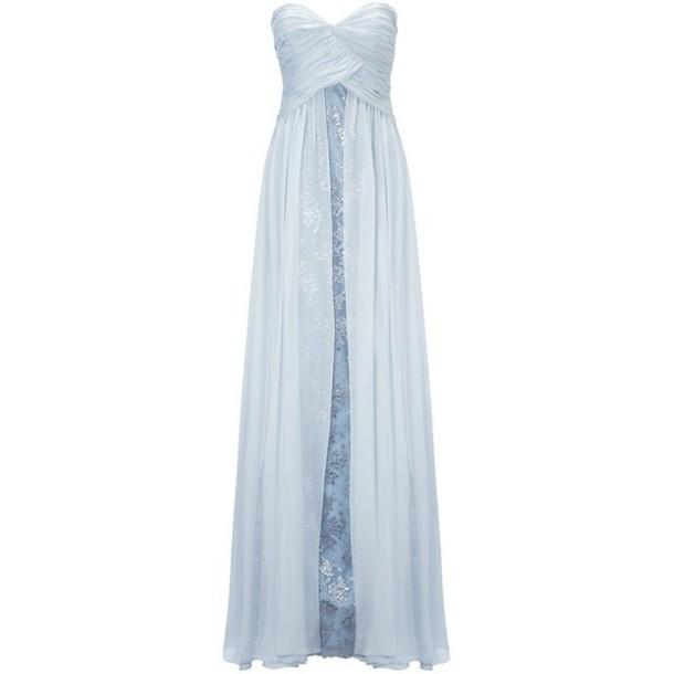 dress light blue prom dress long prom dress