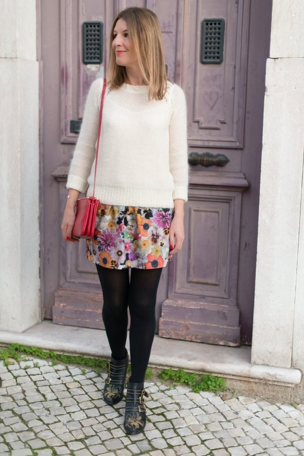 the working girl sweater skirt shoes bag jewels