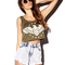 Army graphic crop top   forever21 - 2040857334