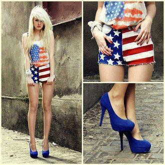shorts american flag red white and blue blue white red usa u.s.a starts