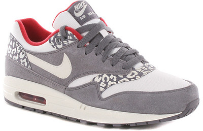 Nike Air Max 1 Shoes Charcoal-Sail-Gym Red Leopard Pack - Polyvore