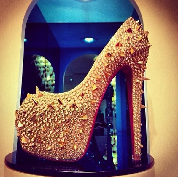 shoes heels gold heels gold high heels studded heels gold studded heels