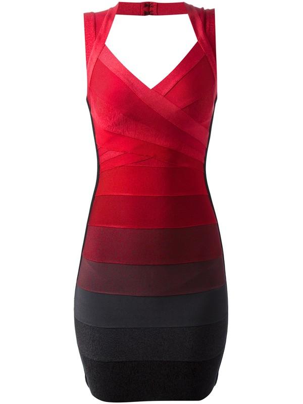 dress herve leger sleeveless dress bandage dress