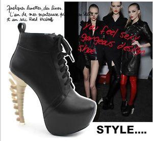 2013 New Sexy Fashion New Celebrity Bone Heels Boots Platform Fashion Shoes 028 | eBay